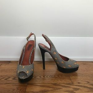 Missoni pattered heels